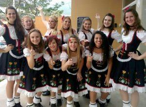 A Banda Pommern Mekas, de Santa Maria de Jetibá, é formada por 11 mulheres musicistas