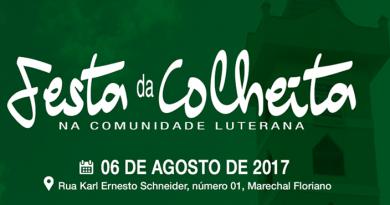 Festa da Colheita na Comunidade Luterana, em Marechal Floriano