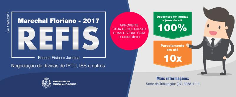 Começa a partir do dia 01 de dezembro de 2017 a adesão ao Programa de Parcelamento Incentivado (PPI) REFIS MARECHAL FLORIANO 2017