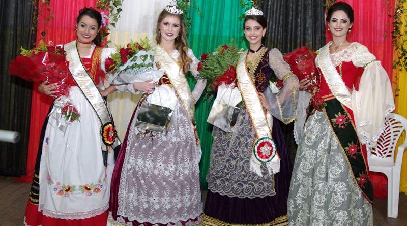 rainhas e princesas eleitas no desfile da italemanha em marechal floriano em 2017