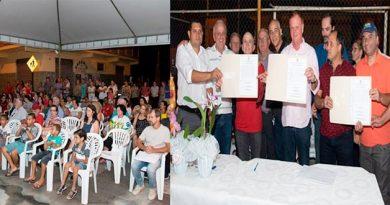 Solenidade de assinatura da ordem de serviço do CMEI Leonor Miguel Feu Rosa