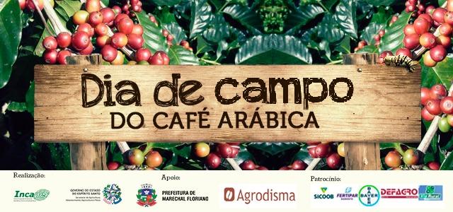Banner dia de campo do café arábica em Marechal Floriano